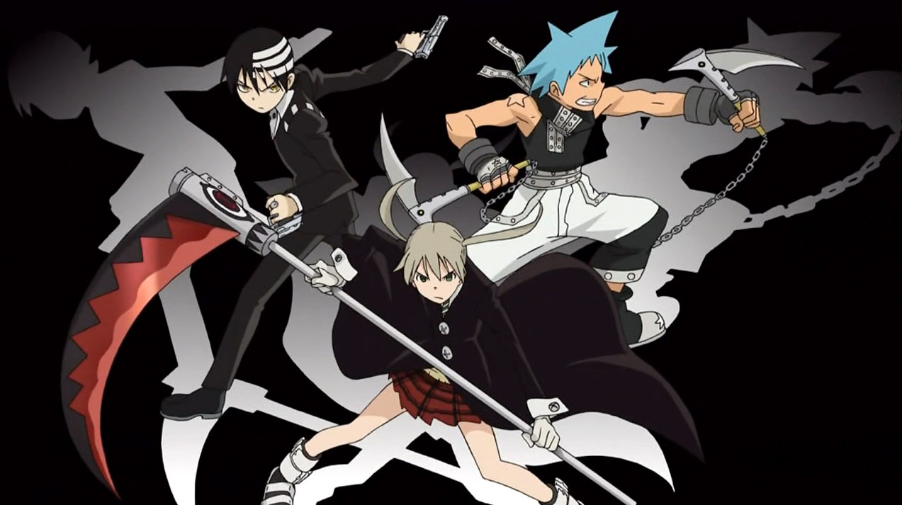 The seven main characters from Soul Eater