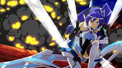 Senki Zesshou Symphogear: Meteoroid-falling, Burning, and Disappear, Then...