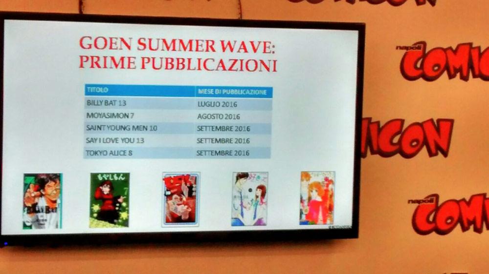 Napoli Comicon 2016  GOEN annuncia Billy Bat e molti altri titoli ... a7dc1610c0be6