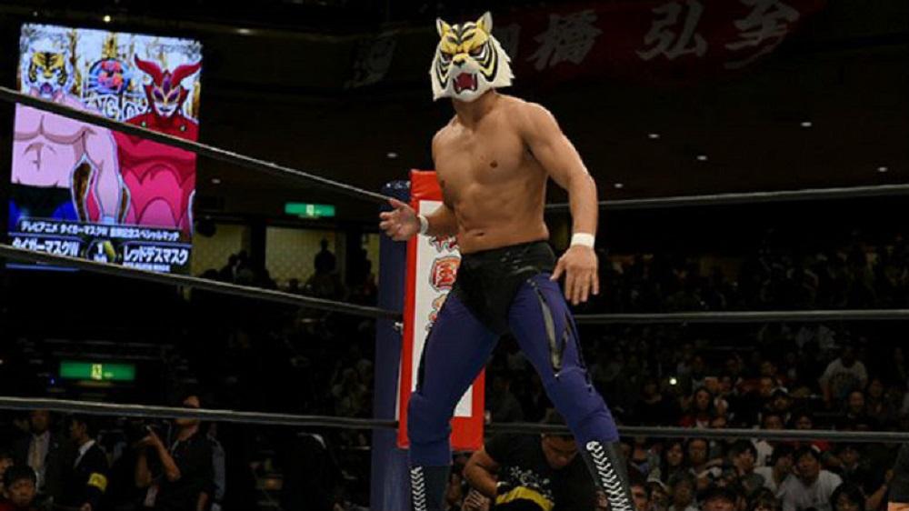 Tiger mask w il celebre wrestler mascherato debutta in un