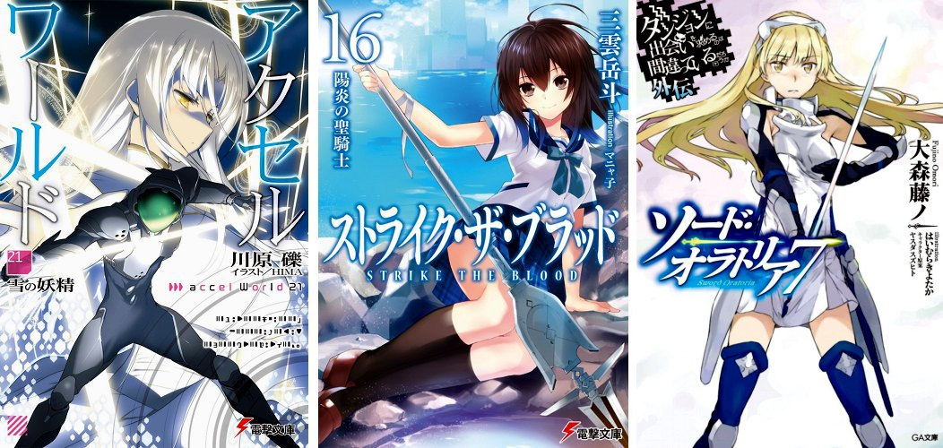 Accel World 21 Strike the Blood 16 DanMachi Gaiden 7