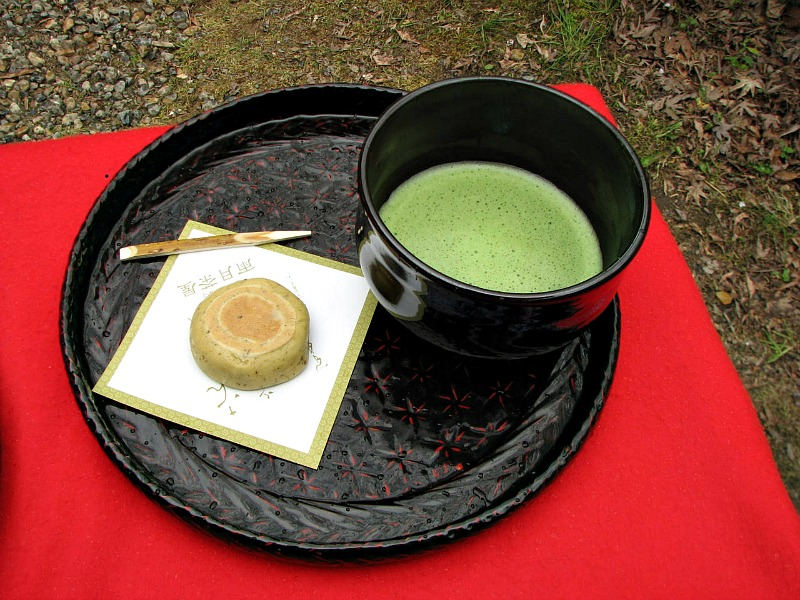 Traditional japanese green tea