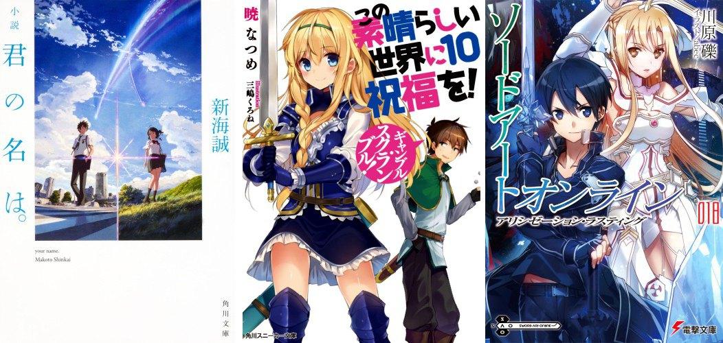 Ranking Japan Light Novel 2016 - Kimi no Na wa KonoSuba! Sword Art Online
