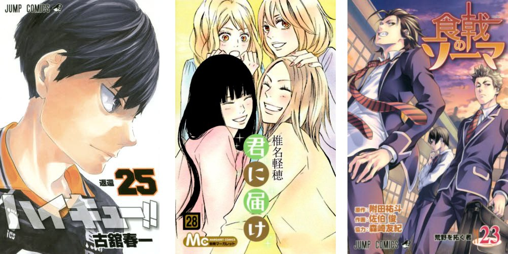 Haikyuu 25 Arrivare a Te 28 Food Wars 23