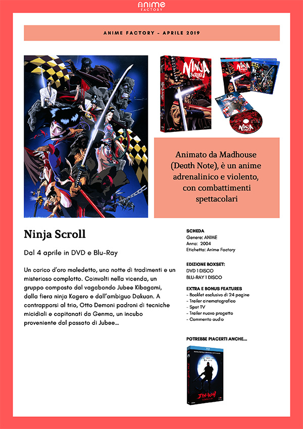Ninja Scroll Blu-ray Yamato Video