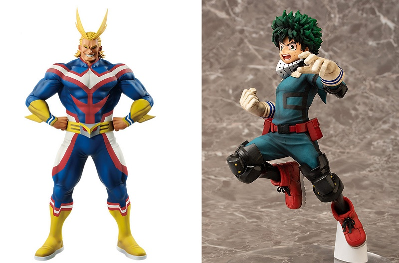 all might (banpresto) e midoriya (chara-ani)