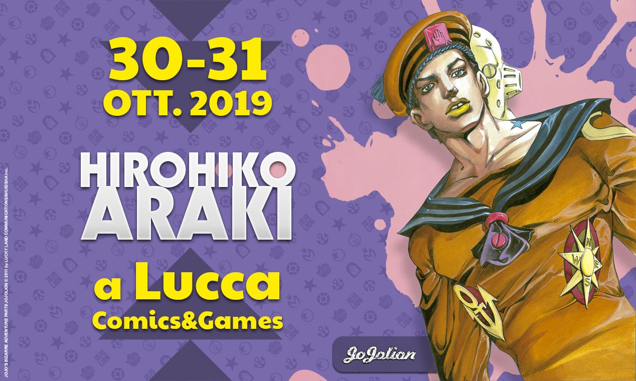 Hirohiko Araki a Lucca Comics 2019