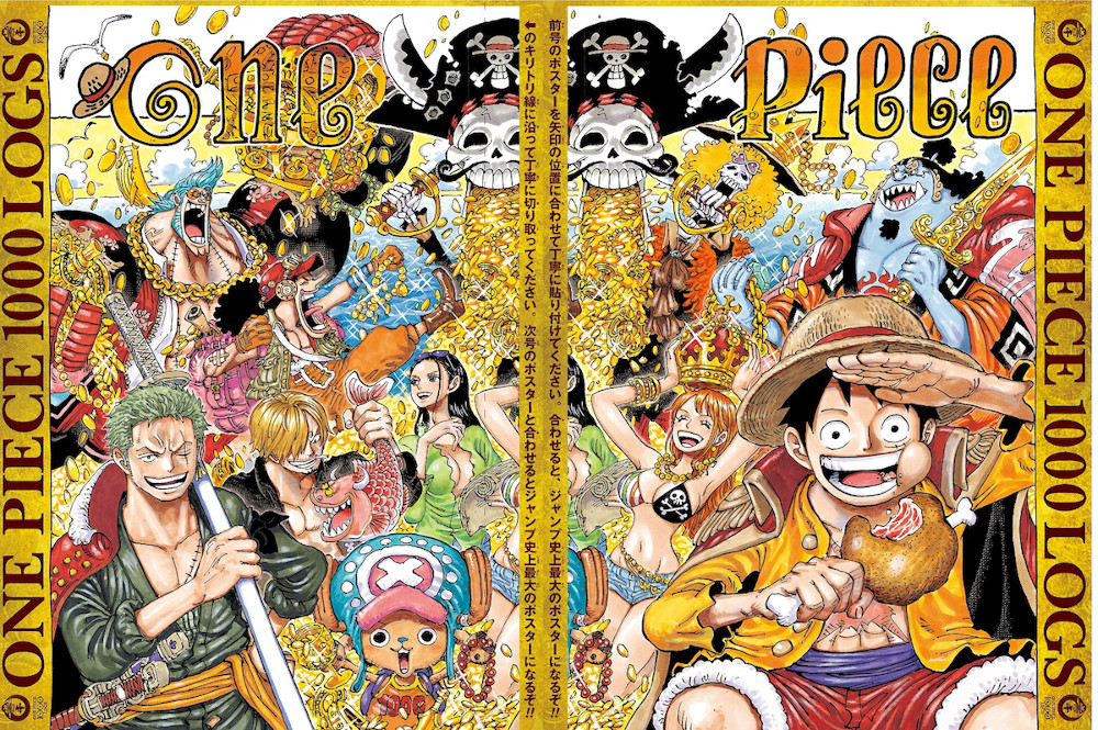 poster one piece capitolo 1000