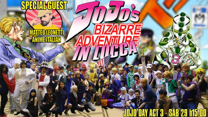 Ritorna il Jojo Day al Lucca Comics and Games