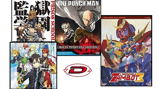 One Punch Man, Prison School, SAO e Zambot 3: a gennaio i box dvd di Dynit