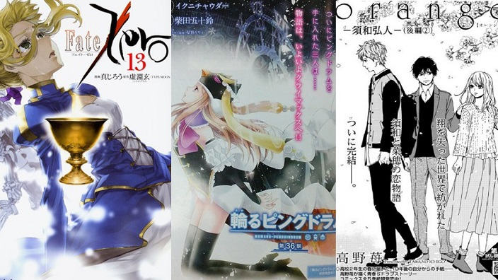 Flash news manga su:  Mawaru Penguindrum, Maid-Sama, Orange, Fate/Zero, Overlord...