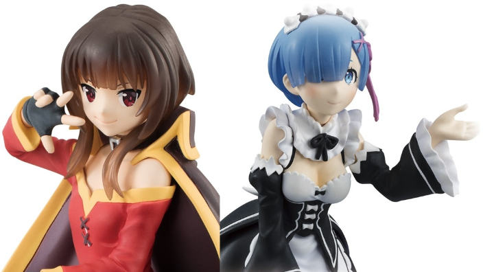 Bandai: in arrivo due set di action figures di Re:Zero e KonoSuba