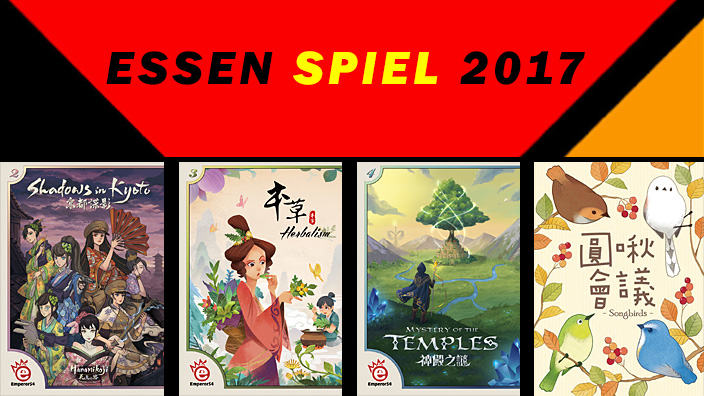 Essen 2017: anteprima di Shadows in Kyoto, Herbalism, Birdie Fight! e Mystery of the Temples