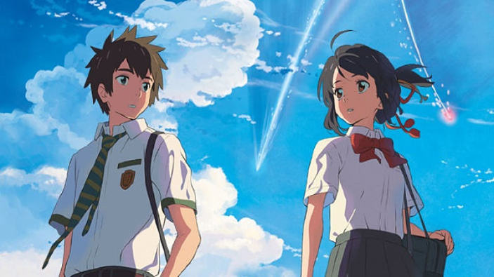 Online una sequenza di fotogrammi chiave di Your Name