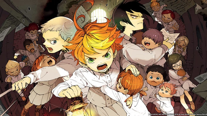 Trailer per The Promised Neverland, Dōkyonin wa Hiza e Domestic Girlfriend