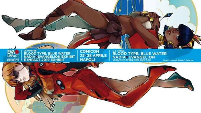 Comicon 2019: presentazione Blood Type: Blue Water – Nadia × Evangelion