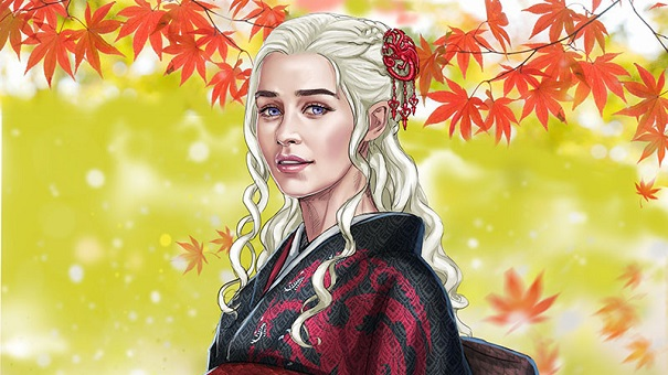L'illustratrice Hikaru Yagi disegna le donne di Game of Thrones in versione giapponese medievale