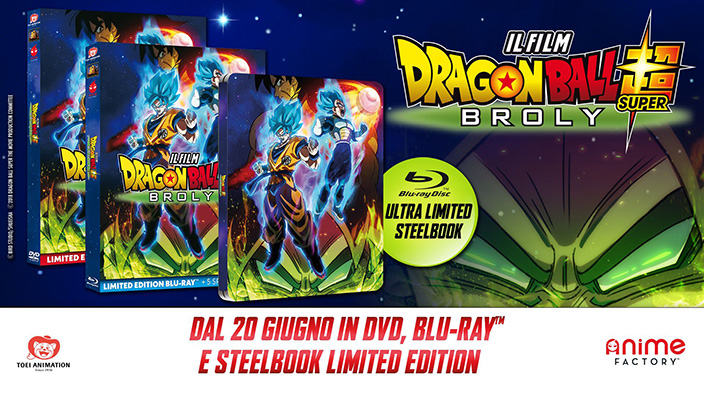 Dragon Ball Super: Broly, in DVD e Blu-ray dal 20 giugno