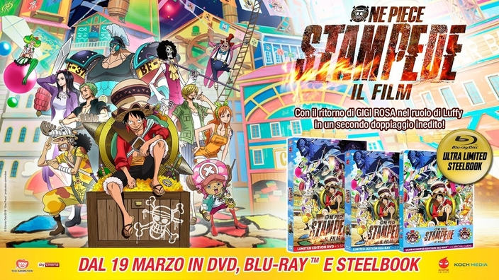 One Piece Stampede: trailer per l'uscita home video Anime Factory