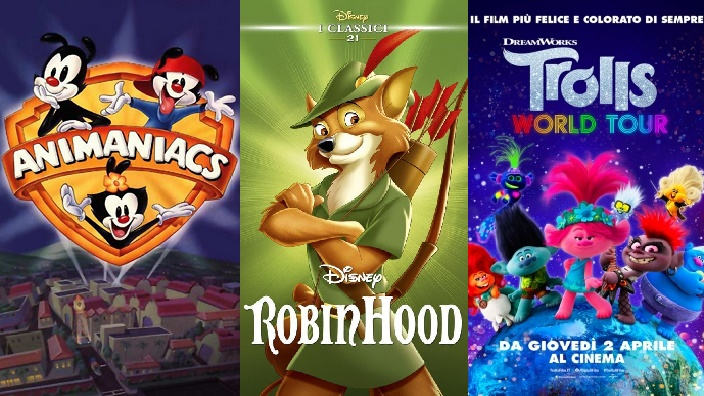 Non solo anime: reboot di Animaniacs, live action di Robin Hood e Trolls World Tour in streaming