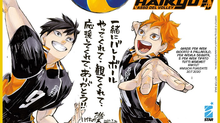 Star Comics: uno shikishi in regalo con l'ultimo volume di Haikyuu!!