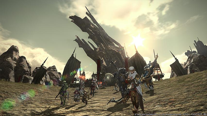 Название = Изображение 2 Final Fantasy XIV: Realm Reborn показывает н