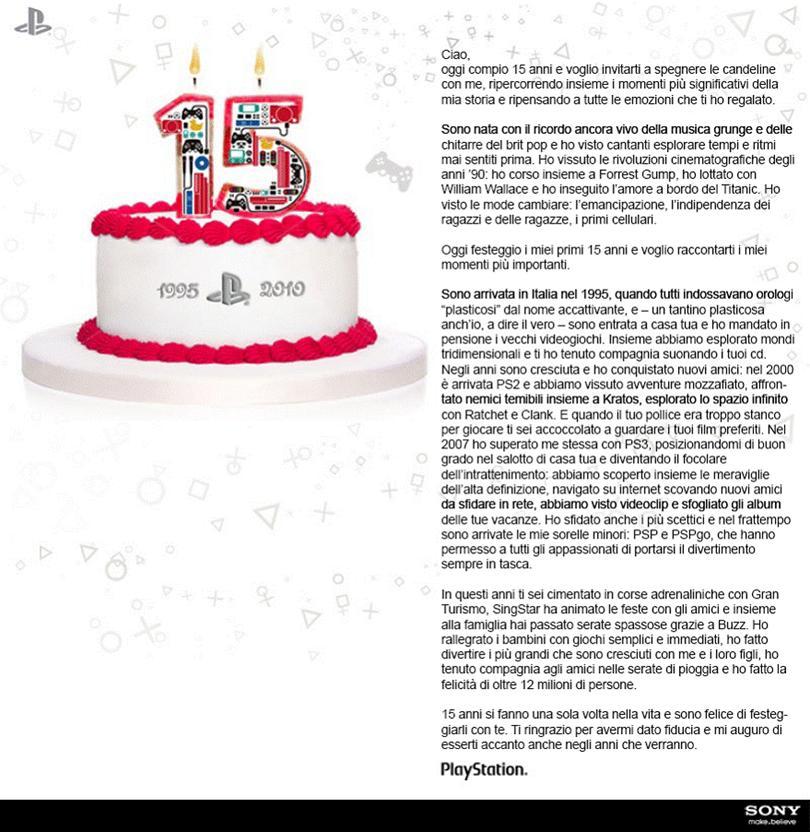 Ben noto Buon Compleanno, PlayStation! | AnimeClick XN17