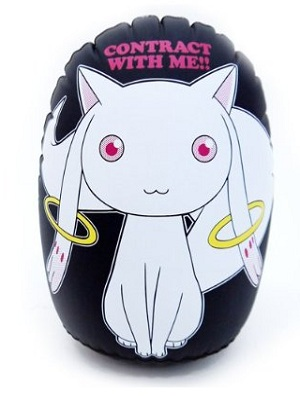 punching Kyubey balloon
